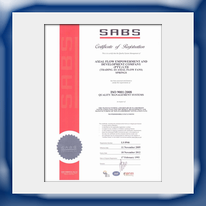 SABS Certificate - ISO9000 - 2000